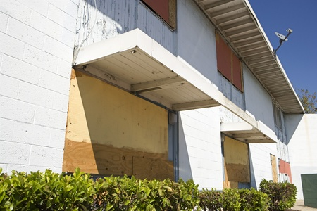 political and social issues: Boarded Up Apartments