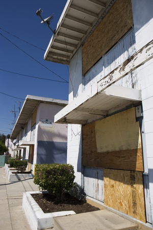 Boarded Up Apartments Stock Photo - 12548153