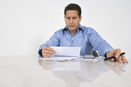 ethnic mixes: Man Doing Finances