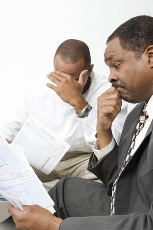 会計士を与えるクライアントの悪いニュース 写真素材 - 12548232