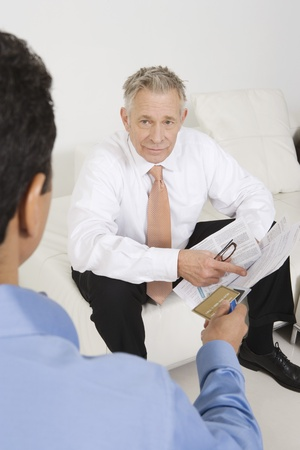 Man Holding Credit Card Stock Photo - 12548234