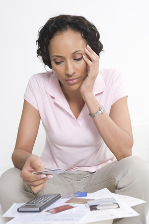 age 35 40 years: Woman Worried About Money