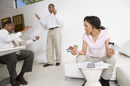 nervousness: Couple Meeting with Accountant