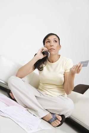 hooked up: Woman Placing Order on Cell Phone