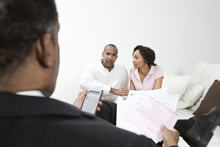 Accountant and Client Couple Stock Photo - 12548261