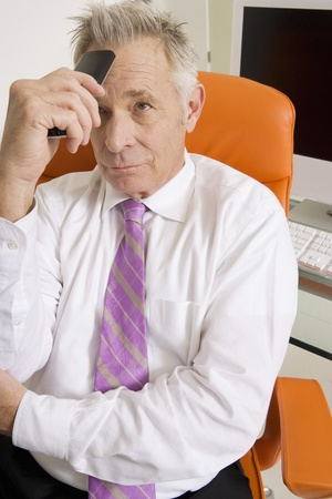 Businessman Stressed Out Stock Photo - 12548293