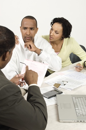Accountant Giving Bad News Stock Photo - 12548348