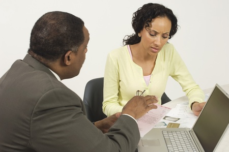 chartered accountant: Accountant Working with Woman LANG_EVOIMAGES