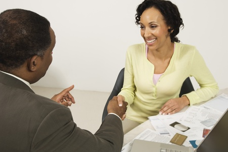 chartered accountant: Accountant Shaking Clients Hand