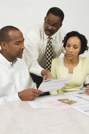 Couple Seeing Accountant Stock Photo - 12548356