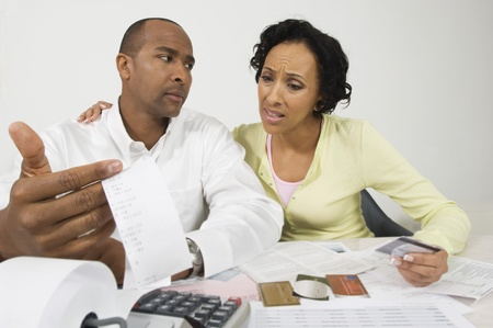 Couple Doing Finances Stock Photo - 12548358