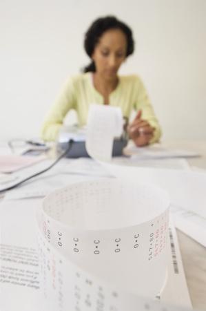 Woman Doing Finances Stock Photo - 12548362