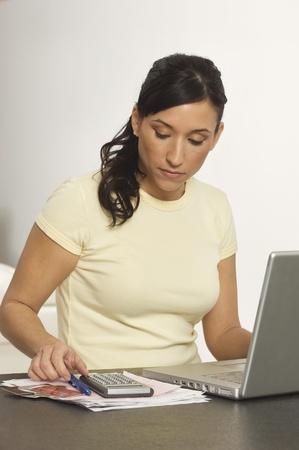Woman Doing Bills Stock Photo - 12548400