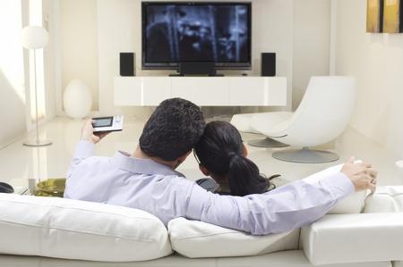 everyday scenes: Coppia Guardare la TV