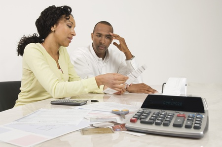 age 35 40 years: Couple Doing Personal Finances