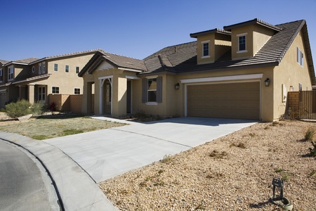 House in New Development Stock Photo - 12548458
