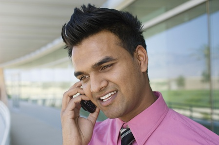25 to 30 year olds: Businessman Talking on a Cell Phone