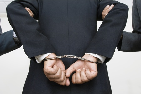 Businessman Being Arrested Stock Photo - 12548502