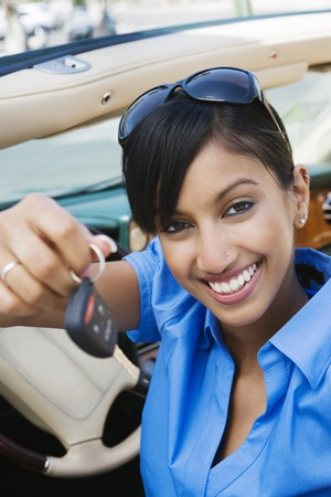 Young Woman Holding Car Keys Stock Photo - 12548520