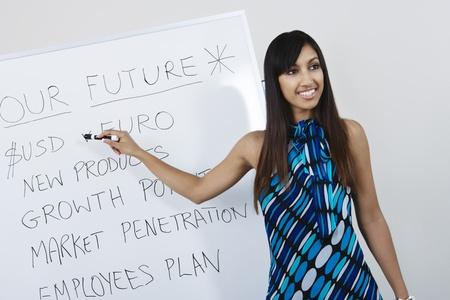 Businesswoman Presenting Company Goals Stock Photo - 12592305