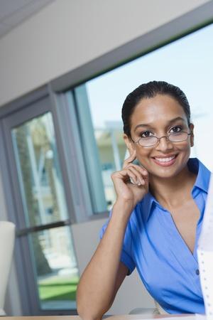 business roles: Woman Wearing Eyeglasses