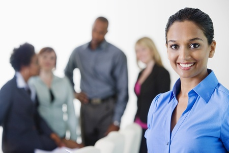 Businesswoman in Meeting Stock Photo - 12592330