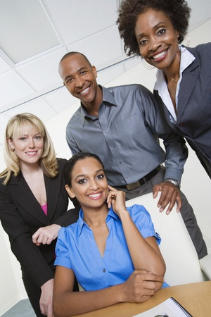 racially diverse: Businesspeople