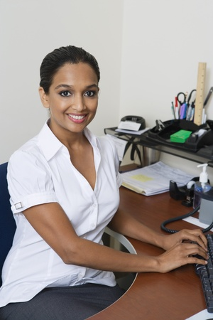 Businesswoman Using Computer Stock Photo - 12592337