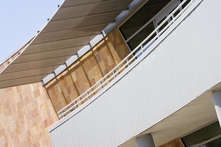 Covered Balcony on Building Stock Photo - 12592350