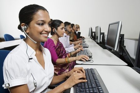 Customer Service Reps in Call Center Stock Photo - 12592357