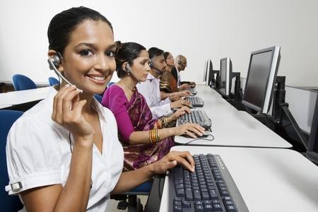 personal call: Customer Service Reps in Call Center