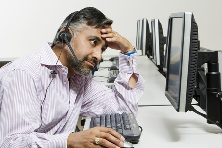 bother: Frustrated Customer Service Representative