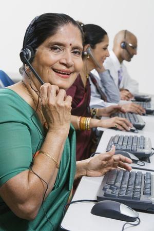 late 50s: Customer Service Representative LANG_EVOIMAGES
