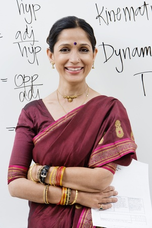 Indian Businesswoman in Front of Whiteboard Stock Photo - 12592382