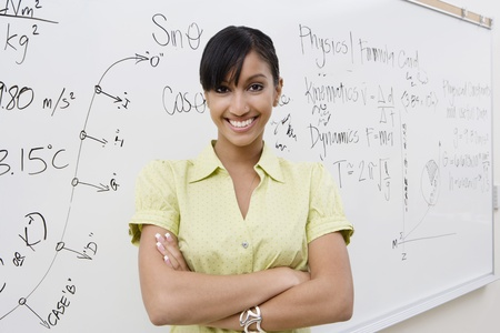 Businesswoman in Front of Whiteboard Stock Photo - 12592386