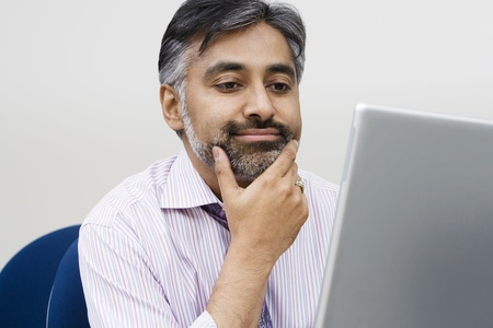 Businessman Using Laptop Stock Photo - 12592398