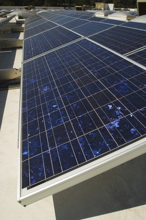 environmental issues: Solar Panels at Solar Power Plant LANG_EVOIMAGES