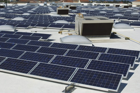 solar power plant: Solar Panels at Solar Power Plant LANG_EVOIMAGES