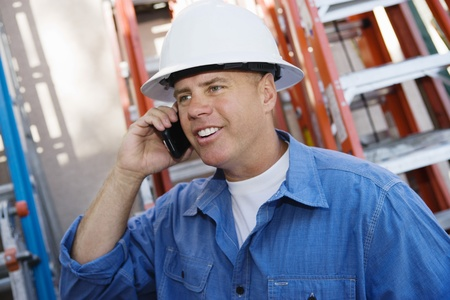 40 to 45 years old: Worker Talking on Cell Phone