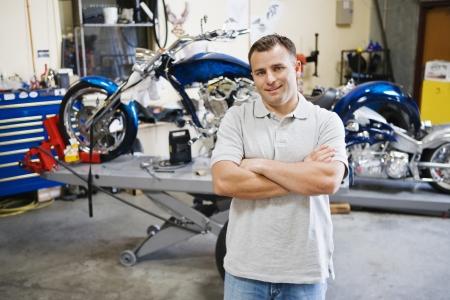 Motorcycle Mechanic Stock Photo - 12592631