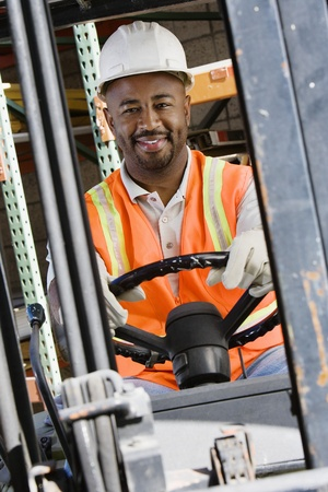 Forklift Driver Stock Photo - 12592649