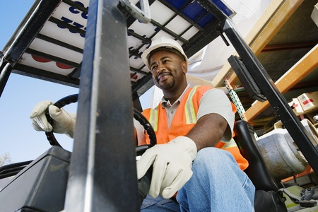 Forklift Driver Stock Photo - 12592650