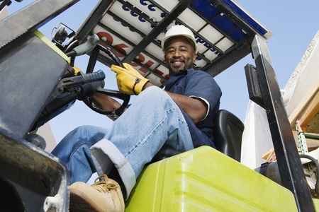 Forklift Driver Stock Photo - 12592654