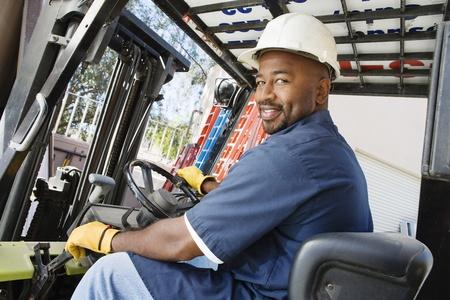 half length posed: Forklift Driver
