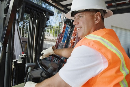 Forklift Driver Stock Photo - 12592657