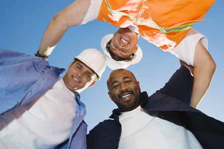 huddle: Construction Workers