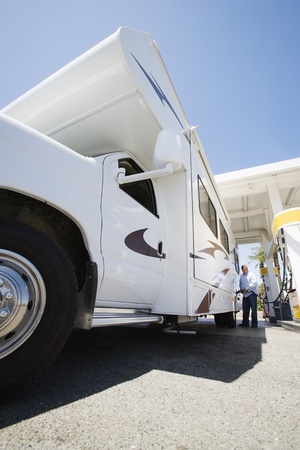 Man Refueling RV Stock Photo - 12592664