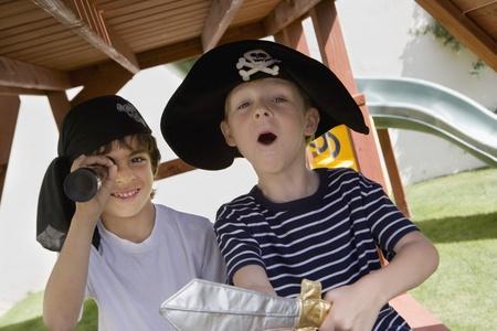 Little Boy Playing Pirate Stock Photo - 12592704