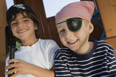 Little Boy Playing Pirate Stock Photo - 12592710