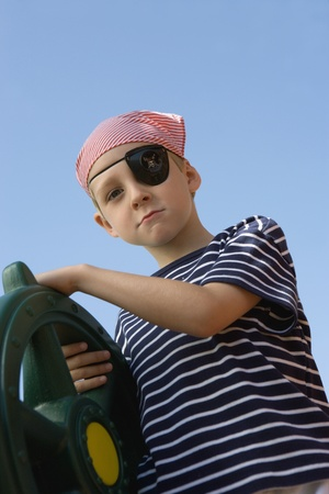 Little Boy Playing Pirate Stock Photo - 12592715